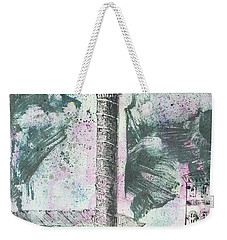 Weekender Tote Bag featuring the painting Piranesi Paraphrase Colonna Antonina by Martin Stankewitz