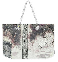 Weekender Tote Bag featuring the painting Piranesi Paraphrase Egyptian Obelisk by Martin Stankewitz