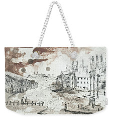 Weekender Tote Bag featuring the painting Piranesi Paraphrase Forum Romanum by Martin Stankewitz