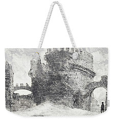 Weekender Tote Bag featuring the painting Piranesi Paraphrase No. 41, Sepolcro Di Metella by Martin Stankewitz