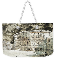 Weekender Tote Bag featuring the painting Piranesi Paraphrase No. 45, Teatro Di Marcello by Martin Stankewitz
