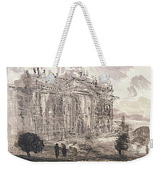 Weekender Tote Bag featuring the painting Piranesi Paraphrase No.43,veduta Della Faciata Della Basilica Di S. Giovanni by Martin Stankewitz