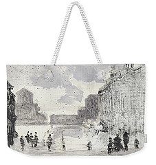 Weekender Tote Bag featuring the painting Piranesi Paraphrase No.47, Veduta Della Vasta Fontana Di Trevi by Martin Stankewitz