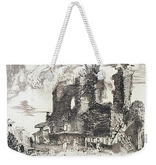 Weekender Tote Bag featuring the painting Piranesi Paraphrase No.52 Remains Of The Fountainhead Of The Aqua Guilia by Martin Stankewitz