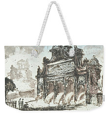 Weekender Tote Bag featuring the painting Piranesi Paraphrase No85  by Martin Stankewitz