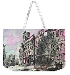 Weekender Tote Bag featuring the painting Piranesi Paraphrase Palazzo Die Montecitorio by Martin Stankewitz