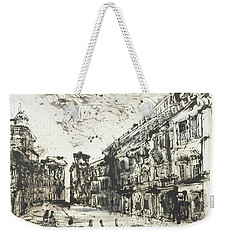 Weekender Tote Bag featuring the painting Piranesi Paraphrase Palazzo Odescalchi by Martin Stankewitz
