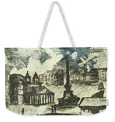 Weekender Tote Bag featuring the painting Piranesi Paraphrase Piazza Della Rotonda by Martin Stankewitz