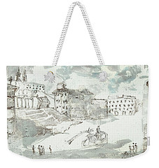 Weekender Tote Bag featuring the painting Piranesi Paraphrase Piazza Di Spagna by Martin Stankewitz