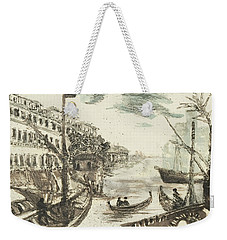Weekender Tote Bag featuring the painting Piranesi Paraphrase Porto Di Ripa Grande by Martin Stankewitz