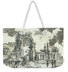 Weekender Tote Bag featuring the painting Piranesi Paraphrase Ruins Of The Golden House Of Nero by Martin Stankewitz