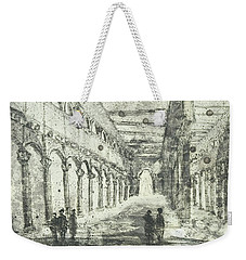 Weekender Tote Bag featuring the painting Piranesi Paraphrase Saint Paolo Duori Delle Mura by Martin Stankewitz