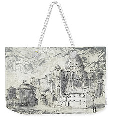 Weekender Tote Bag featuring the painting Piranesi Paraphrase No. 50 Saint Peter ,rome by Martin Stankewitz