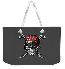Skull 8 T-shirt Weekender Tote Bag by Herb Strobino