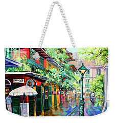 Weekender Tote Bag featuring the painting Pirates Alley - French Quarter Alley by Dianne Parks