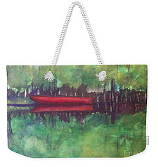 Pirogue On Bayou Lafourche Weekender Tote Bag