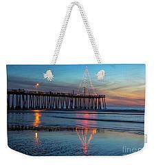 Pismo Pier Lights Weekender Tote Bag