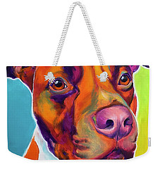 Pit Bull - Red Weekender Tote Bag