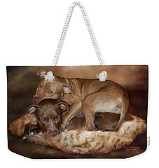 Pitbulls - The Softer Side Weekender Tote Bag