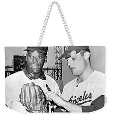 Pitcher Bob Gibson Weekender Tote Bag by Underwood Archives