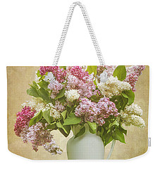 Pitcher Of Lilacs Weekender Tote Bag