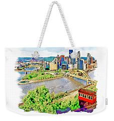 Pittsburgh Aerial View Weekender Tote Bag by Marian Voicu