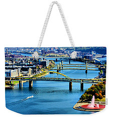Pittsburgh At The Point Weekender Tote Bag