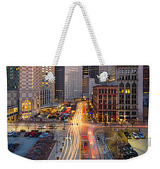 Pittsburgh Cultural District Weekender Tote Bag by Emmanuel Panagiotakis
