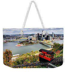 Pittsburgh From Incline Weekender Tote Bag by Michelle Joseph-Long