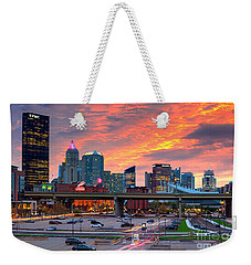 Weekender Tote Bag featuring the photograph Pittsburgh From The Strip by Emmanuel Panagiotakis
