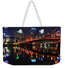 Pittsburgh Lights Weekender Tote Bag