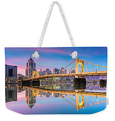 Pittsburgh North Shore Reflections  1 Weekender Tote Bag by Emmanuel Panagiotakis