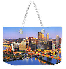 Pittsburgh Pano 22 Weekender Tote Bag