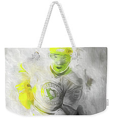 Pittsburgh Penguins Nhl Sidney Crosby Painting Fantasy Weekender Tote Bag by David Haskett