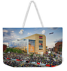 Weekender Tote Bag featuring the photograph Pittsburgh Penguins Stanley Cup Champs 2016 by Emmanuel Panagiotakis