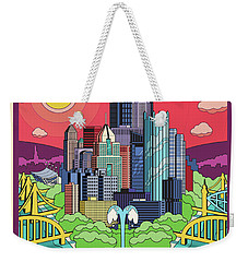 Pittsburgh Pop Art Travel Poster Weekender Tote Bag