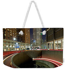 Weekender Tote Bag featuring the photograph Pittsburgh Skyline  58 by Emmanuel Panagiotakis