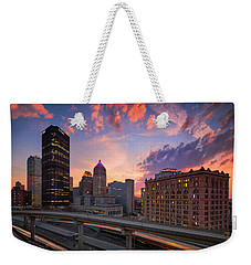 Weekender Tote Bag featuring the photograph Pittsburgh Skyline  60 by Emmanuel Panagiotakis
