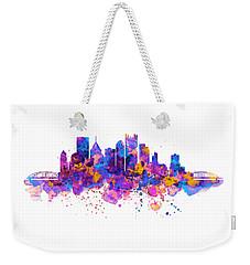 Pittsburgh Skyline Weekender Tote Bag by Marian Voicu