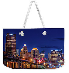 Weekender Tote Bag featuring the photograph Pittsburgh Strip District 2 by Emmanuel Panagiotakis