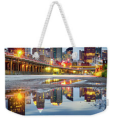 Weekender Tote Bag featuring the photograph Pittsburgh Strip District by Emmanuel Panagiotakis