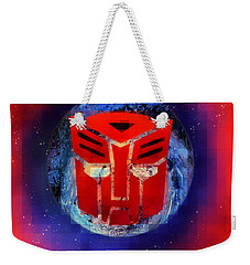 Pixeled Autobot Weekender Tote Bag