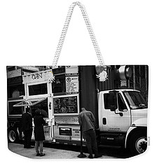 Pizza Oven Truck - Chicago - Monochrome Weekender Tote Bag by Frank J Casella