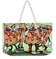 Pizza Party Weekender Tote Bag