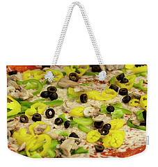 Pizza With Peppers Weekender Tote Bag