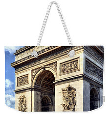 Weekender Tote Bag featuring the photograph Arc De Triomphe # 2 by Mel Steinhauer