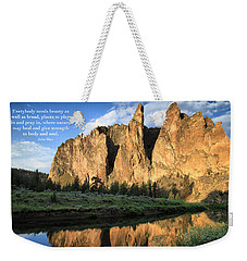 Weekender Tote Bag featuring the photograph Places To Pray And Play In by Lynn Hopwood