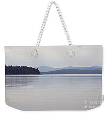 Placid Mountain Lake Weekender Tote Bag by Cindy Garber Iverson