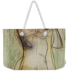 Weekender Tote Bag featuring the drawing Placid by Paul McKey