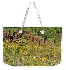 Weekender Tote Bag featuring the photograph Plains Coreopis by Maria Urso
